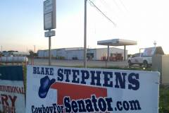 Thank you Green Country Farm and Ranch in Grove, Oklahoma for allowing Cowboy to put up a campain sign!