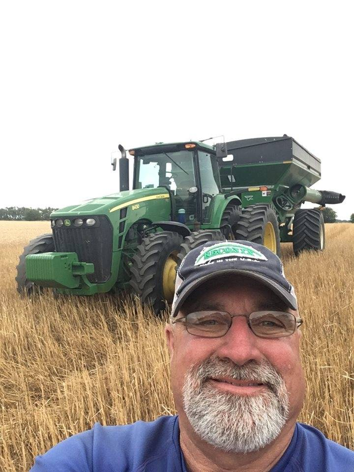 "Blake ""Cowboy"" Stephens ... Kansas Wheat Harvest. Blake  goes North each year to help out his farming buddies. It's always long hours and lots of fun! His first wheat harvest was the summer of 1979 after high school graduation."