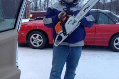 Cowboy likes chainsaws! This makes number 7. The perfect number.