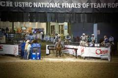 Action photos of Blake roping his steer at the National Finals of Team Roping Championships. 1/11