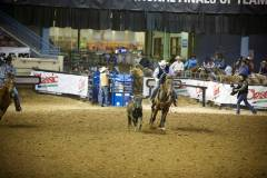 Action photos of Blake roping his steer at the National Finals of Team Roping Championships. 5/11