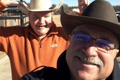 "Cowboy and lifelong friend, Randy ""Pistol Pete"" Peterson before the 2019 OSU Bedlam Football Game."