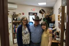 Blake is pictured with his wife, Locust Grove Upper Elementary Librarian and his granddaughter  who attends Locust Grove High School.