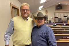 Evangelist Bob Newton pictured here with Cowboy during Revival at Faith Chapel. What a great man of God! If and when elected Brother Bob has offered to come all the way from Iowa and dedicate and bless Cowboy's office at the State Capitol!