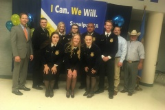 "Sapulpa FFA invited Blake to their awards banquet. Blake said, ""It brought back many memories! It was an honor and I had a blast! The last time I attended was in 1979. I was the FFA President and Master of Ceremonies."""