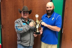 The Locust Grove Cowboy Counselor challenged Chouteau Wildcat Early Childhood Center, Principal Josh Gwartney to a friendly competition...1st Annual Battle of 412 Red Cross Blood Drive 2020. The loser kisses a pig!!!
