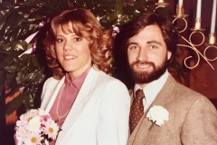 "Blake ""Cowboy"" Stephens and his beautiful bride 37 years ago! ""Time flies when you're with someone you love!"""